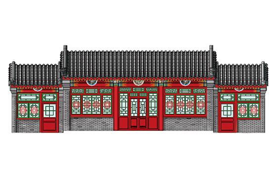 1/100 Beijing Siheyuan-A(courtyard house) 09001