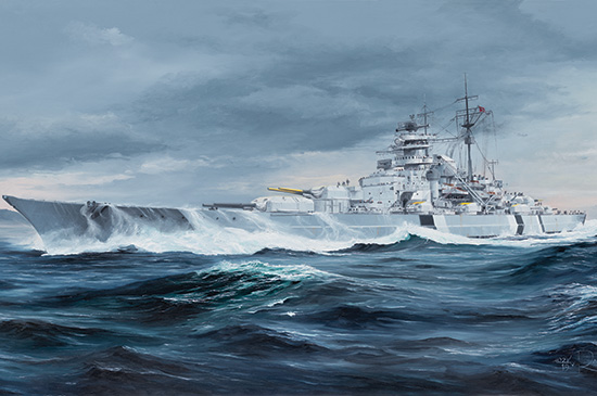 1/350 German Bismarck Battleship 05358