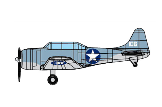 1/350 SBD-3 DAUNTLESS (Pre-painted) 06404