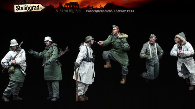 1/35 Panzergrenadiere, Kharkov 1943 (Big Set 6 figures) S-3190